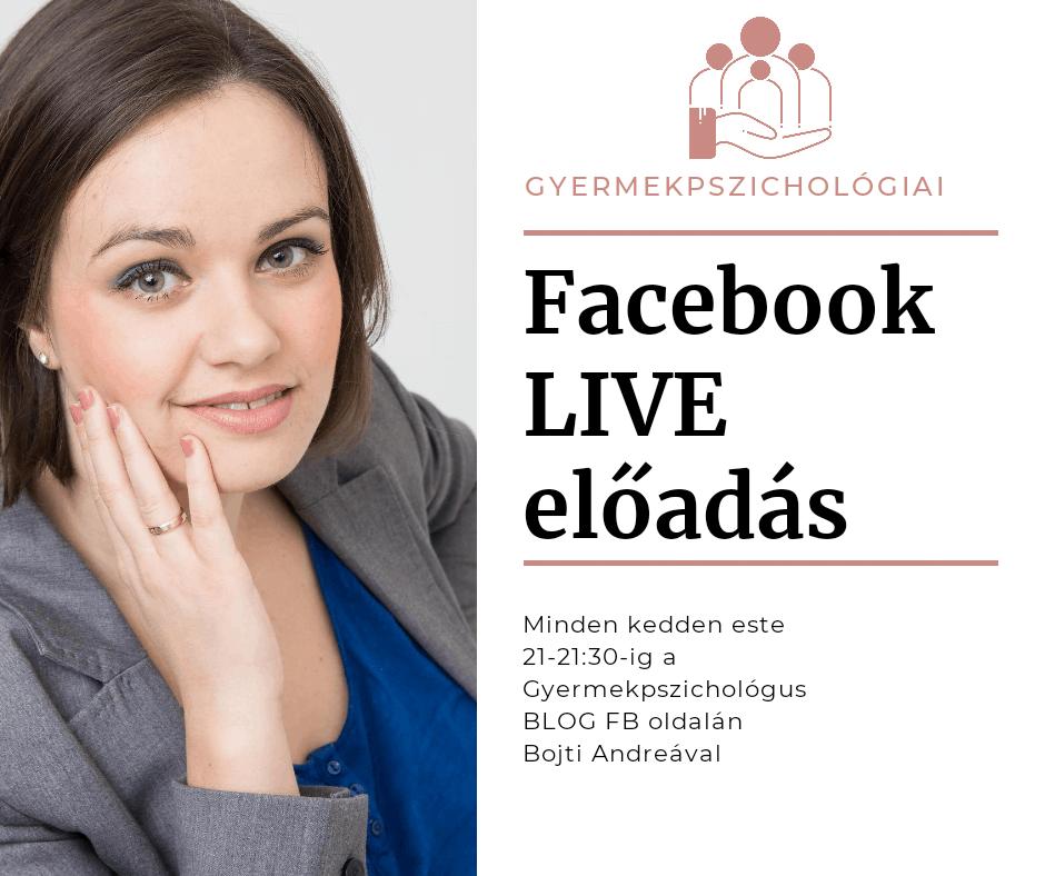 facebook live előadás minden kedden